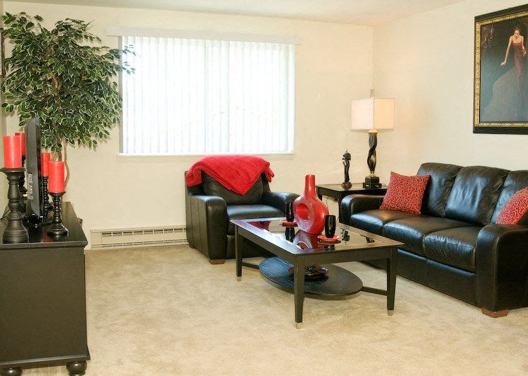 Bright Spacious Living Room at Bradford Manor Apartments, Hamlin, NY