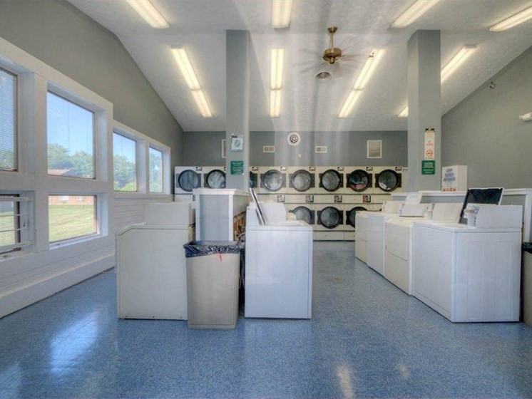 Modern Laundry Room at Chili Heights Apartments, Rochester, NY