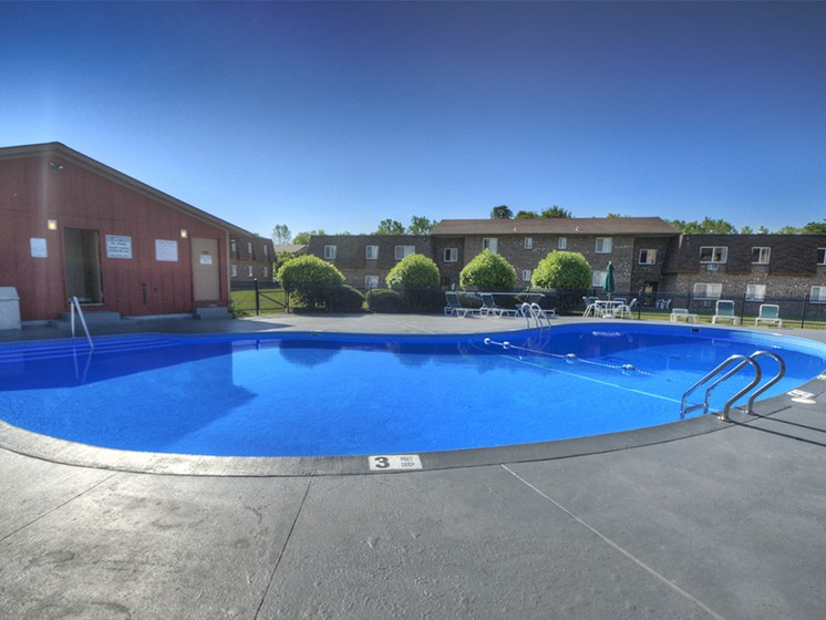 Large Pool at Chili Heights Apartments, Rochester, NY