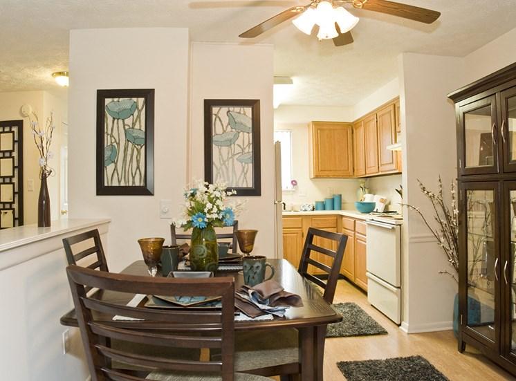 Spacious Kitchen Area at Collett Woods Townhouses, Farmington,New York