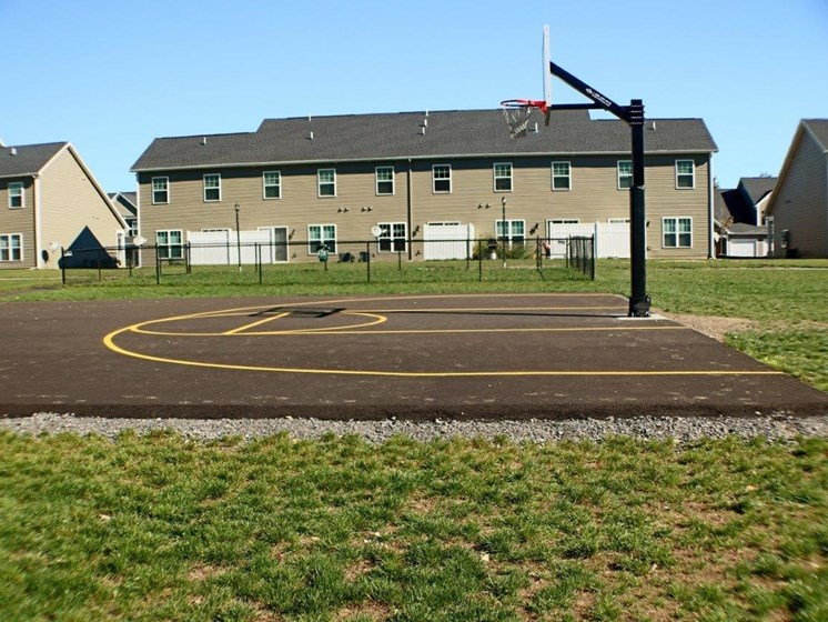 Outdoor Basketball Court at Collett Woods Townhouses, Farmington,New York