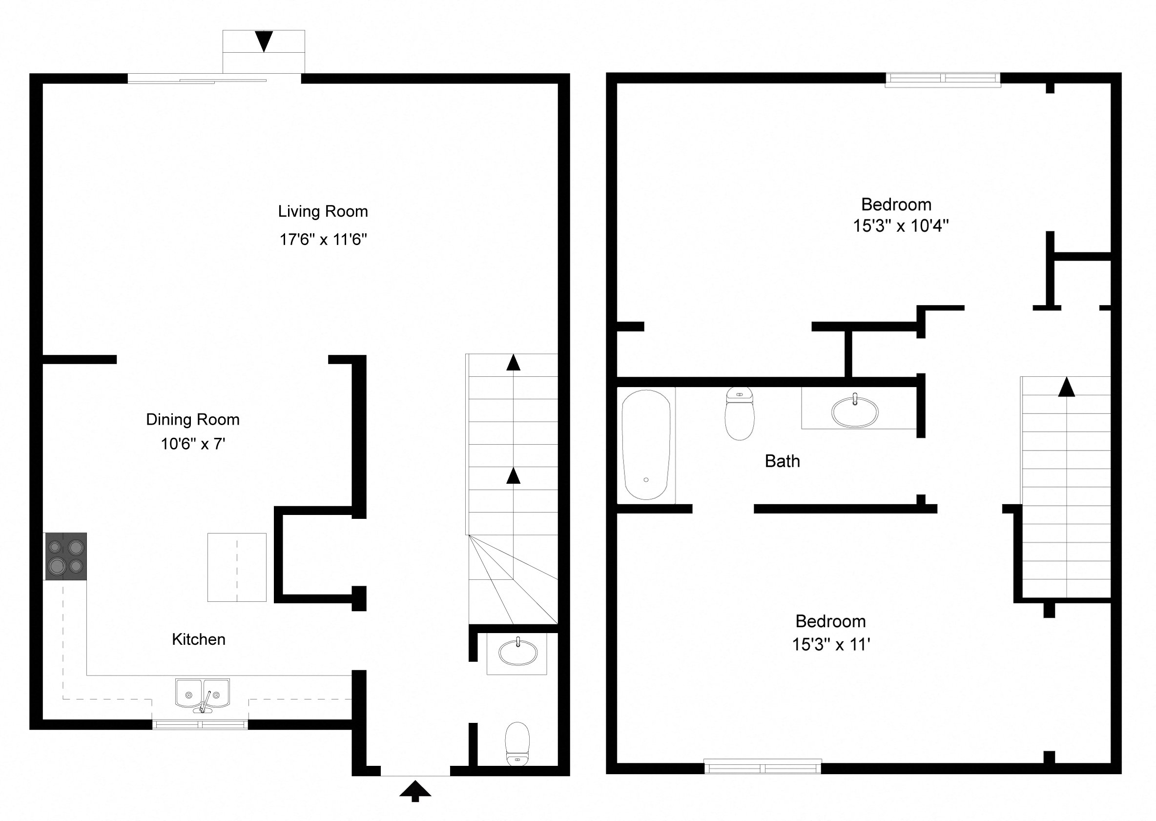 Two Bedroom   Phase I At Collett Woods Townhouses, Farmington,New York