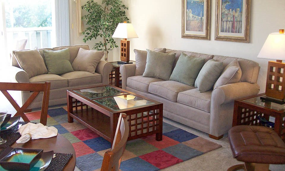 Spacious Living Room at Stone Hedge Village Townhouses, Farmington, NY