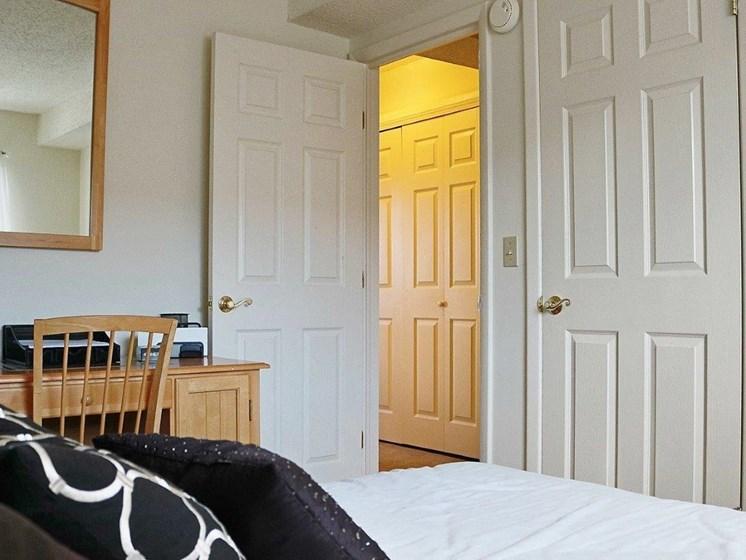 Bright Bedroom at Stone Hedge Village Townhouses, Farmington, NY
