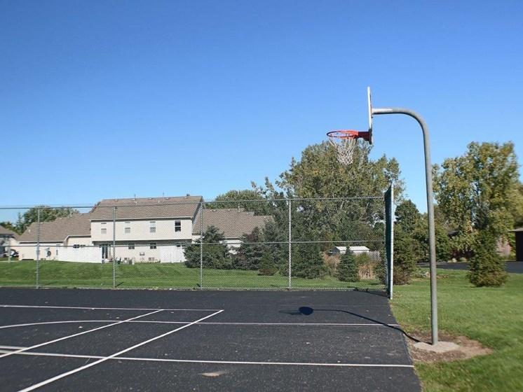 Large Basketball Court at Stone Hedge Village Townhouses, Farmington, NY