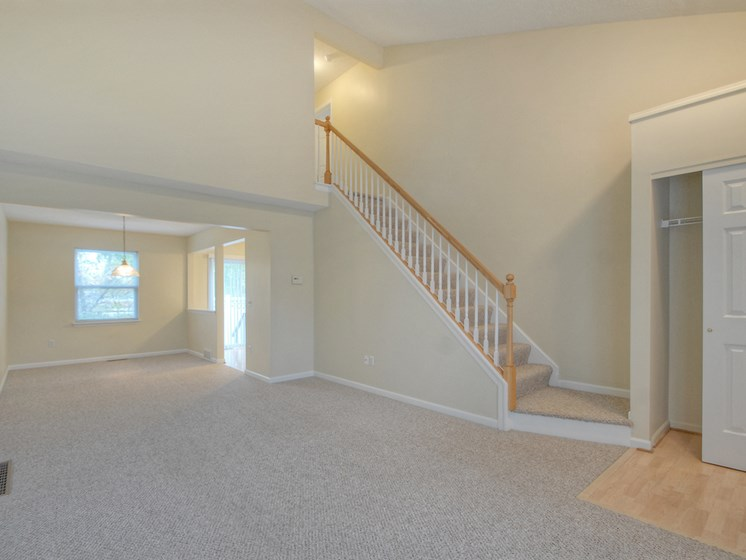 Large Living and Dining Room at Fetzner Square Apartments & Townhouses, Rochester, NY