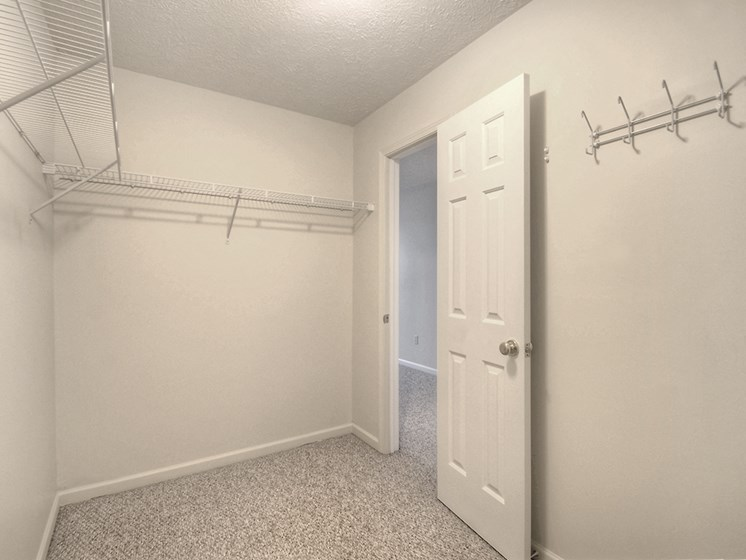 Walk-In Closet at Fetzner Square Apartments & Townhouses, Rochester, NY