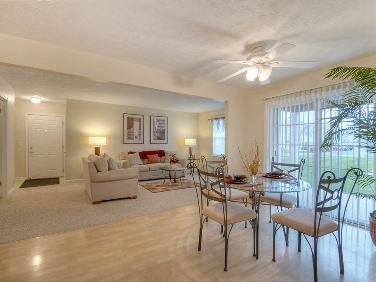 Open Floor Plan at Fetzner Square Apartments & Townhouses, Rochester, NY