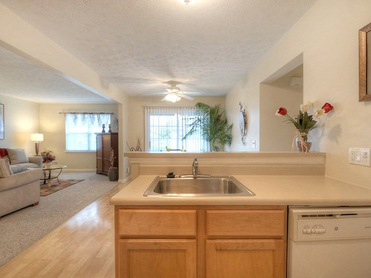 Kitchen Island at Fetzner Square Apartments & Townhouses, Rochester, NY