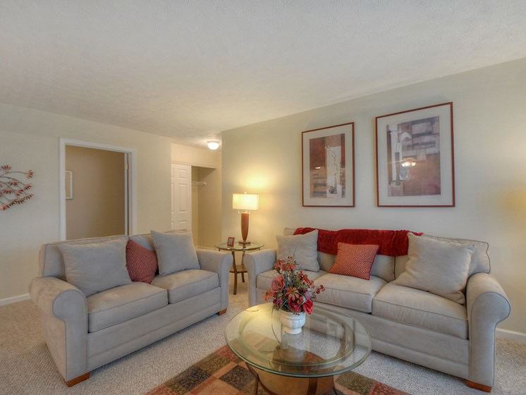Large Living Room at Fetzner Square Apartments & Townhouses, Rochester, NY