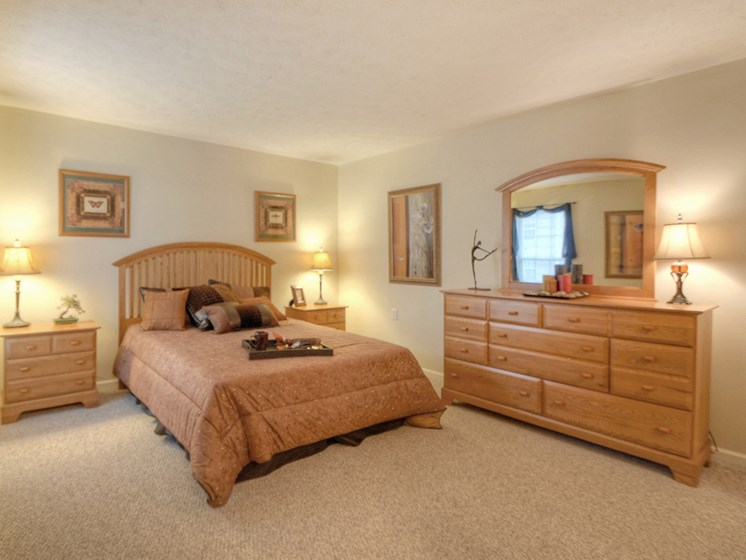 Bright Bedroom at Fetzner Square Apartments & Townhouses, Rochester, NY
