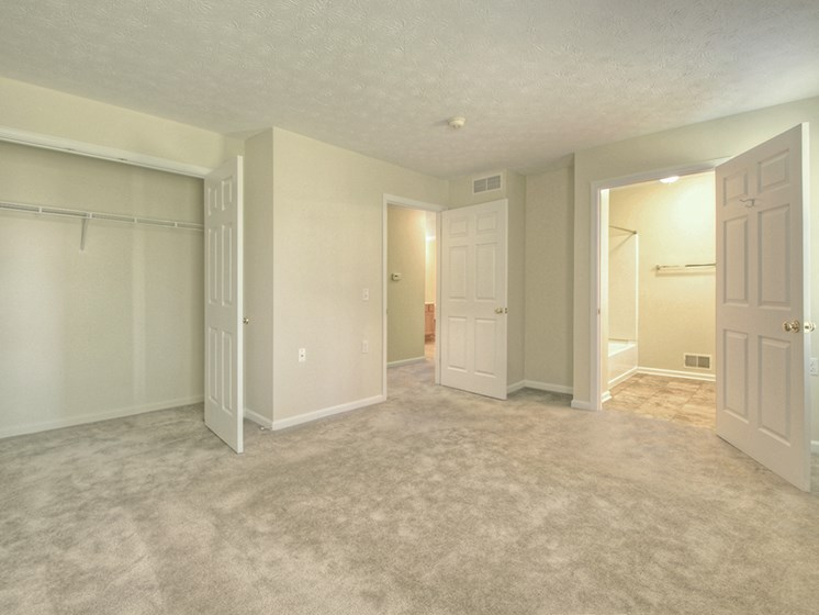 Master Bedroom and Bathroom at Fetzner Square Apartments & Townhouses, Rochester, NY