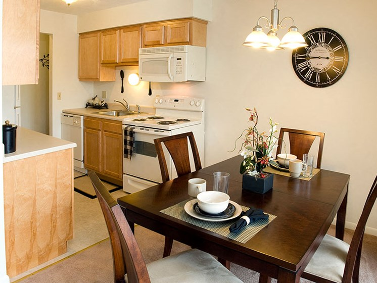 Airy Kitchen at Winton Village Apartments, Rochester