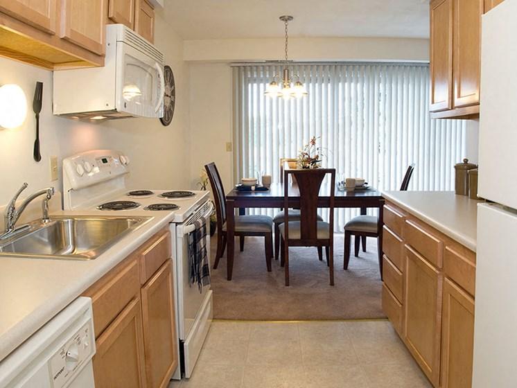 Stylish Kitchen at Winton Village Apartments, New York