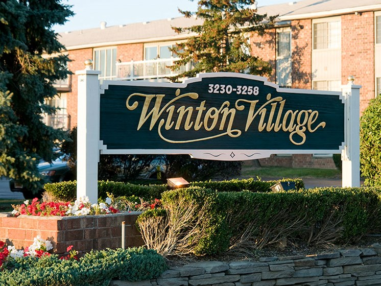 Property Sign at Winton Village Apartments, Rochester, New York