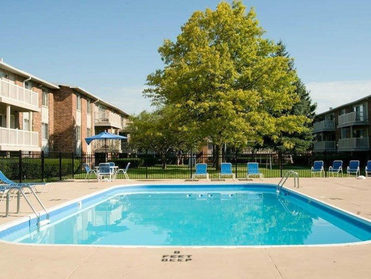 Swimming Pool at Winton Village Apartments, Rochester, NY