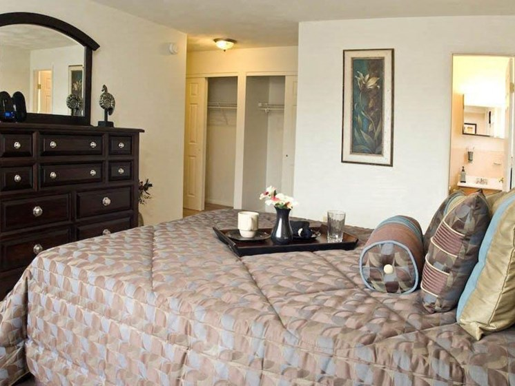 Comfortable Bedroom at Winton Village Apartments, Rochester, NY, 14623