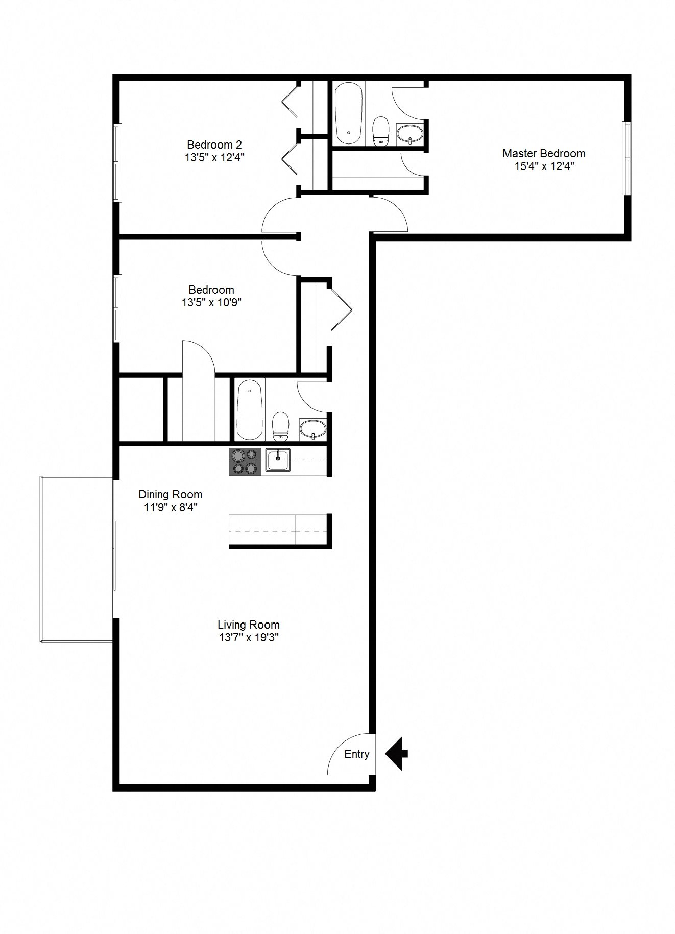 3 Bedroom Floor Plan 5