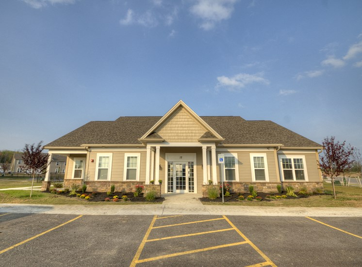 Leasing Office at Townhomes at Pleasant Meadows, Lancaster, NY