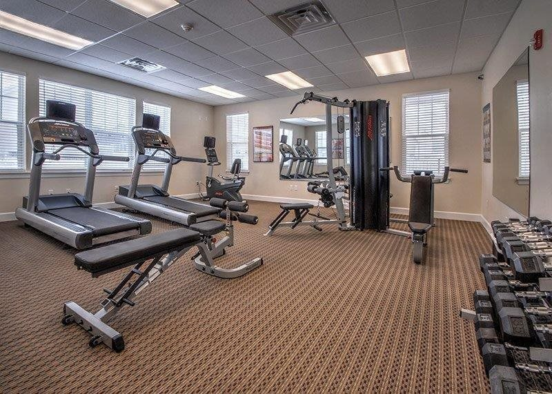 24 Hour Fitness Center at Townhomes at Pleasant Meadows, New York