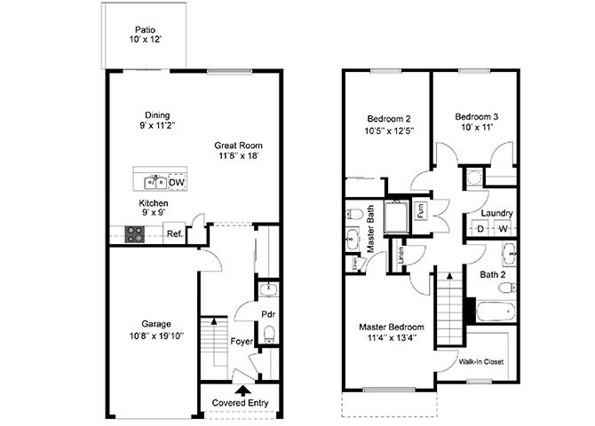 Three Bedroom Townhouse at Townhomes at Pleasant Meadows, Lancaster