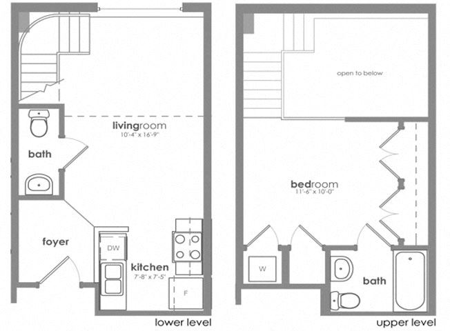 One Bedroom One and a Half Bathroom