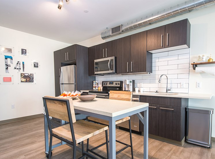 The Foundry Kitchen The Foundry at 41st Pet-Friendly Apartments, Downtown Pittsburgh, PA