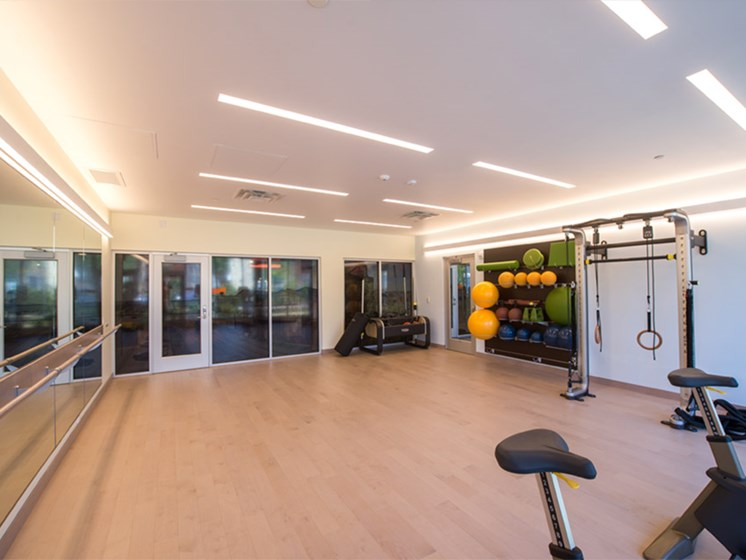 The Foundry Fitness Center and Yoga Studio The Foundry at 41st Pet-Friendly Apartments, Downtown Pittsburgh, PA