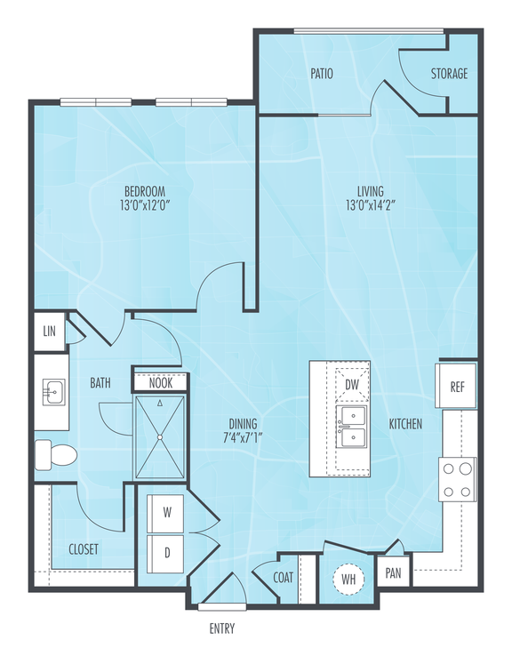 Floorplan at Everly, Houston, TX, 77063