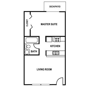 1 Bedroom Floor Plan at Huntington Apartments in Concord, North Carolina, NC