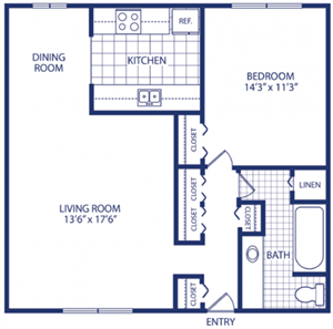 One Bedroom (A, B, C)