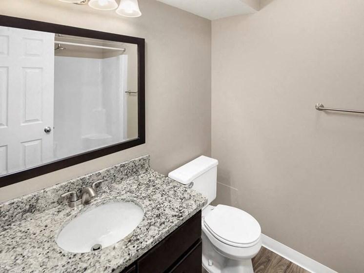 Burwick Farms apartment homes large bathroom mirror