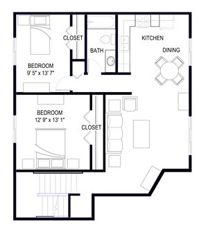 Floor plan at The Commons of Inver Grove, Inver Grove Heights