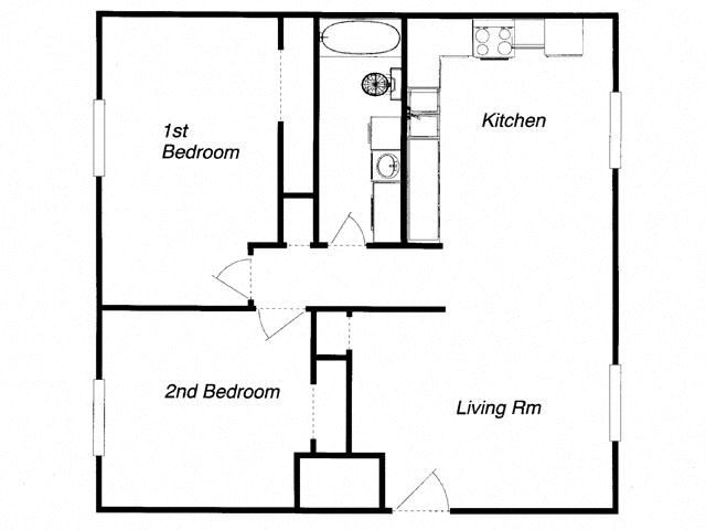 Floor plan at The Commons of Inver Grove, Inver Grove Heights, Minnesota