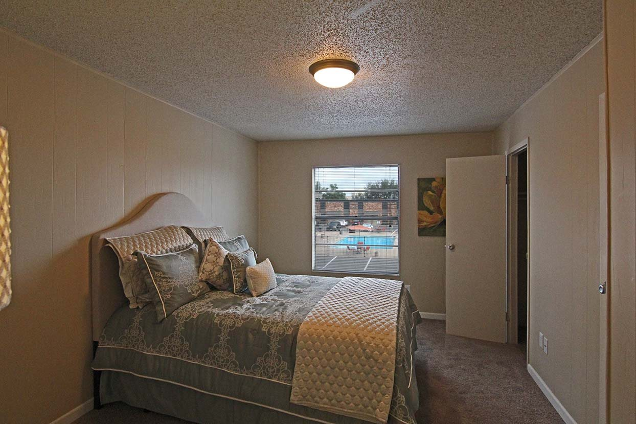 Bedroom with Window View at Brookside Apartments in TX, 76643