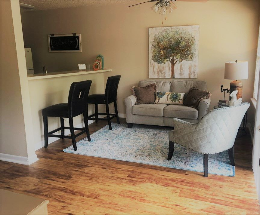 Contemporary Living Room, at Cambridge Court Apartments, Nacogdoches, 75965