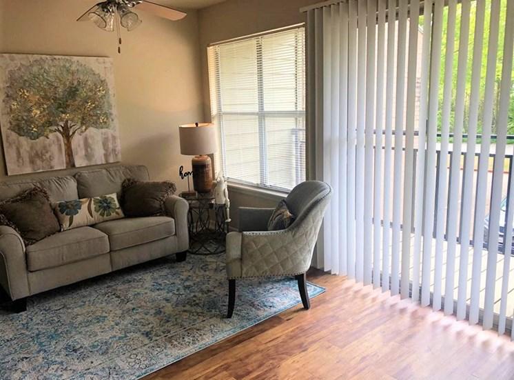 Bright Living Room, at Cambridge Court Apartments, Nacogdoches Texas