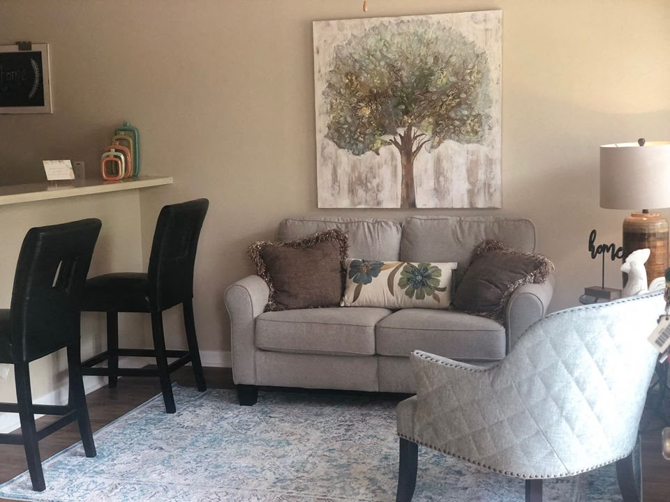 Cozy Living Room, at Cambridge Court Apartments, Texas