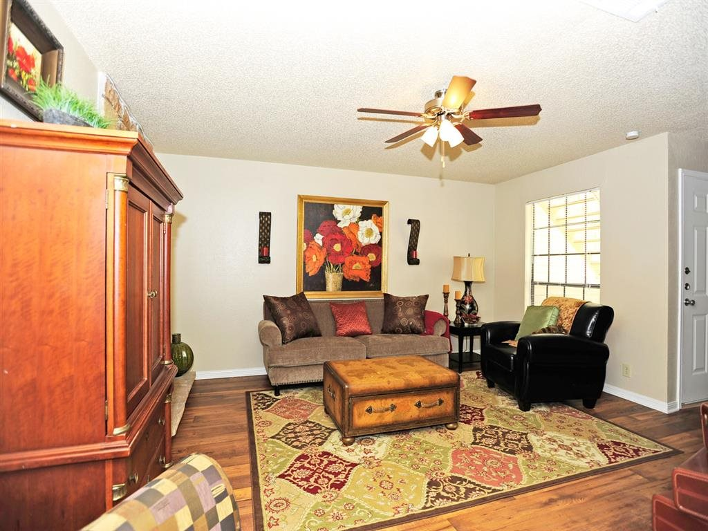 Ceiling Fan In Living Room At Summit Ridge Apartments Texas 76502