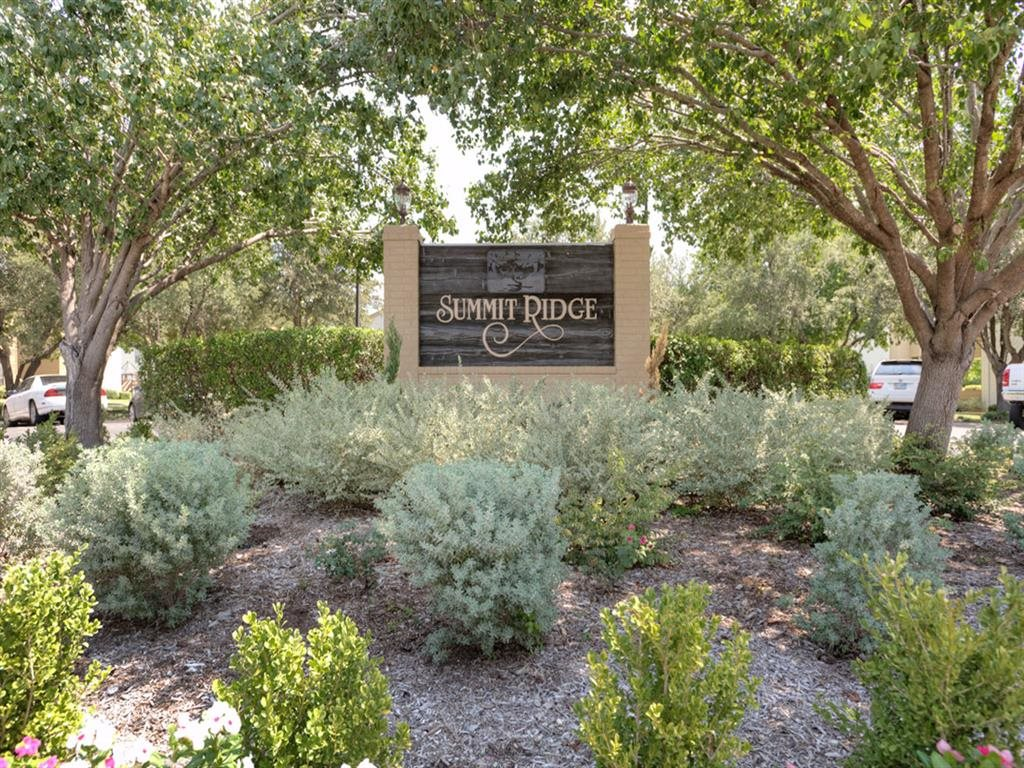 Welcoming Property Signage At Summit Ridge Apartments Texas