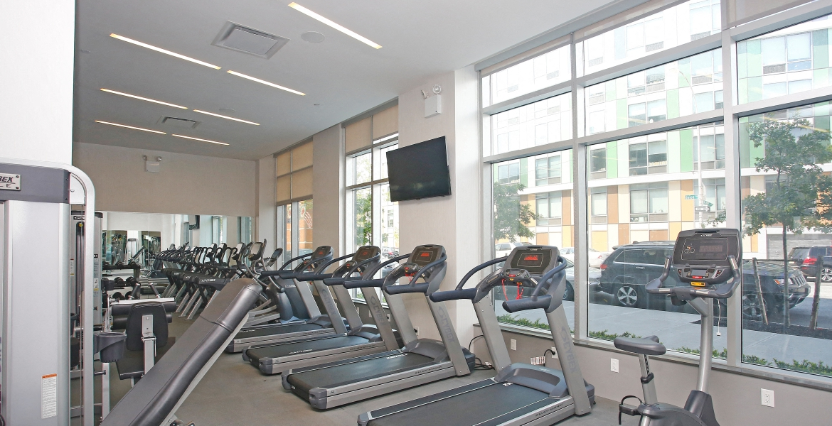 fitness center and equipment