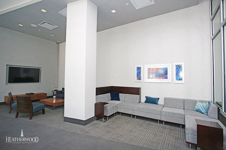 open lounge area in gray