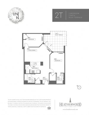 2 Bedroom - T & F Line with Terrace