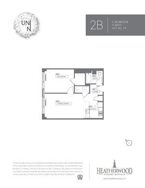 1 Bedroom - B, C, D, E, F, G, V & W Line