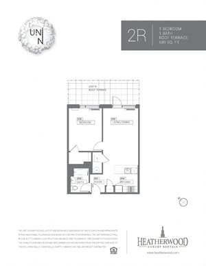 1 Bedroom - R Line with Terrace