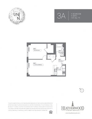 1 Bedroom - Large A Line