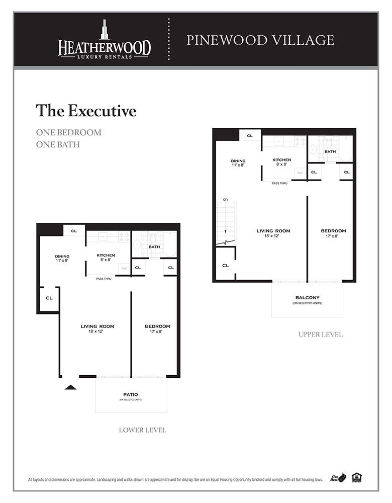 The Executive Floorplan at Pinewood Village, New York