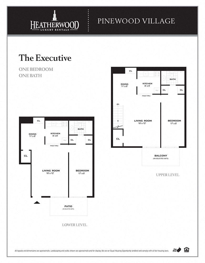 The Executive Floorplan at Pinewood Village, New York