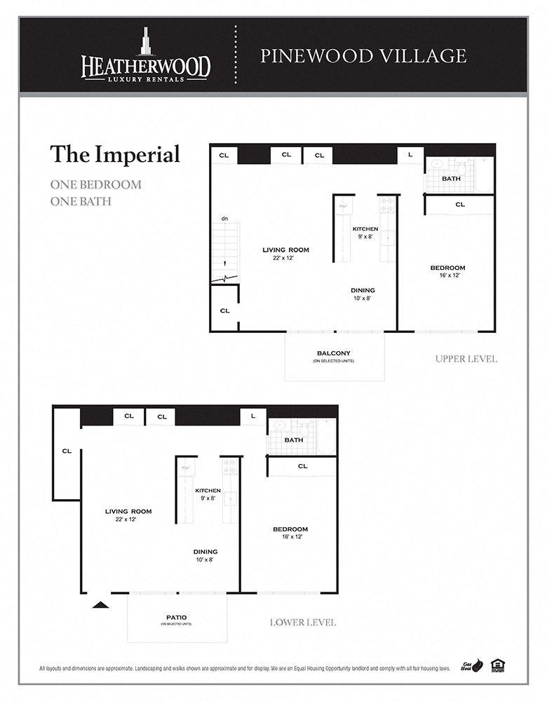 The Imperial Floorplan at Pinewood Village, New York, 11727