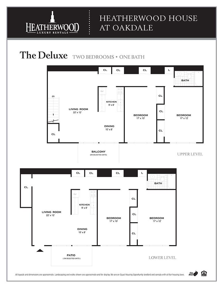 The Deluxe Floorplan at Heatherwood House at Oakdale, Bohemia
